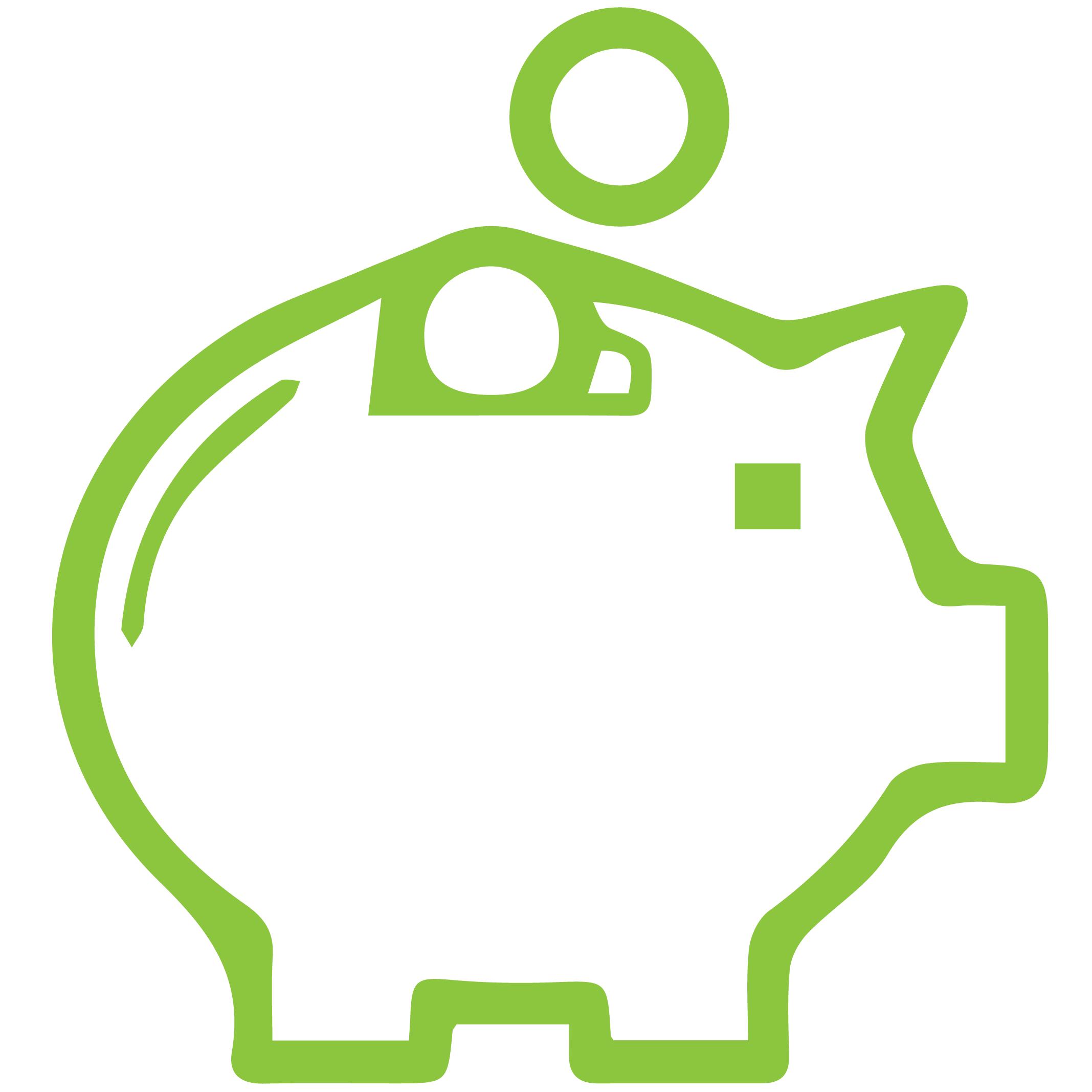 piggy saving bank icon